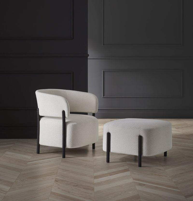 Butaca RC Wood con banqueta - Muebles de diseño Blasco&Vila