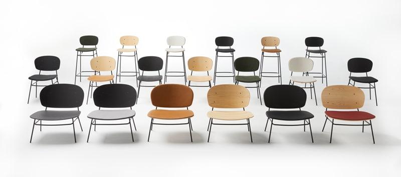 Conjunto sillas diferentes acabados y tapizados - Colección Fosca - Muebles de diseño - Blasco&Vila