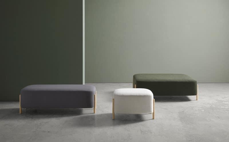 Foto ambiente banquetas colección RC Wood - Muebles de diseño - Blasco&Vila