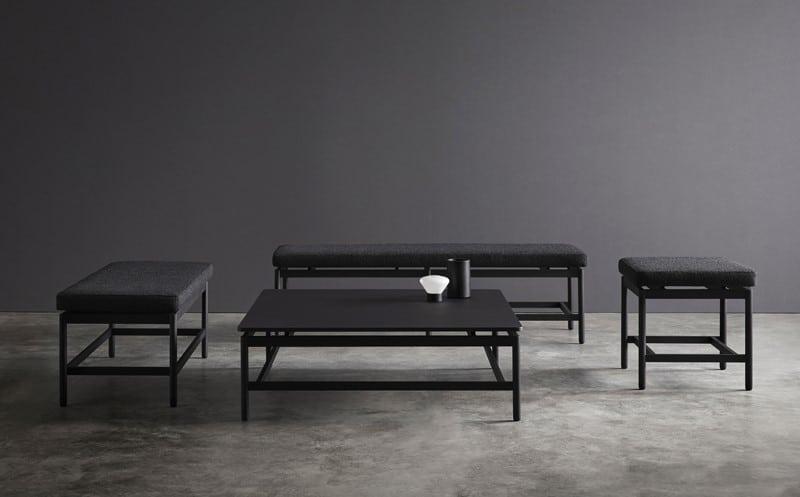 Mesas y banquetas de la colección REM - Muebles de diseño - Blasco&Vila